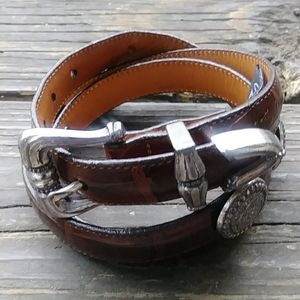 Brighton Brown Belt Size L